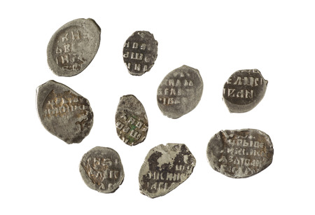 reign: old metal copper coins  first money in Russia  the reign of Ivan the Great Prince