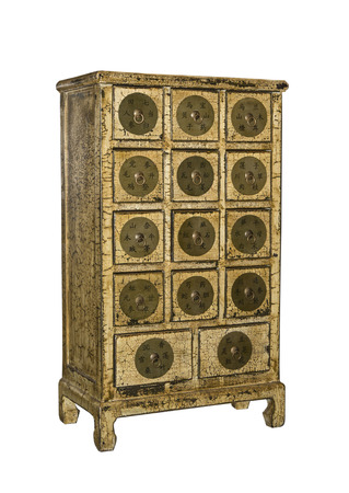 old items: old Chinese furniture. secretary. drawers for storing items and securities
