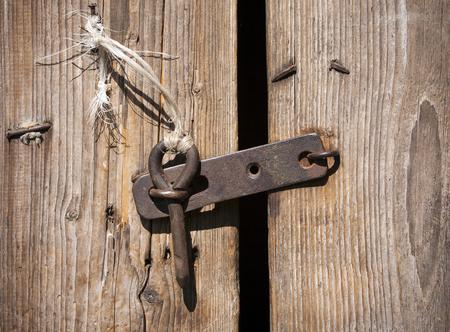 large doors: rustic door latch