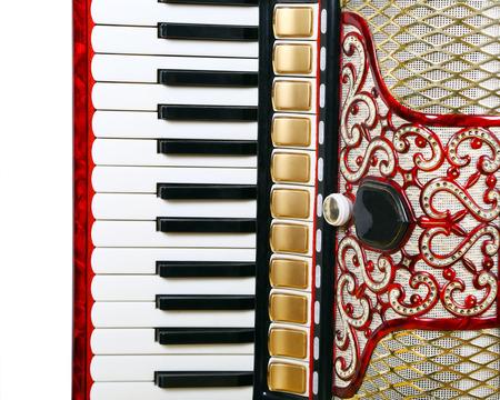 acordeón: fragmento, instrumento musical acorde�n rojo, dispositivo obsoleto