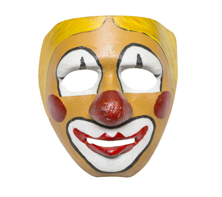 clown: old mask, style retro on a white background, isolated