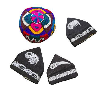 skullcap: eastern Uzbek hats.  Stock Photo