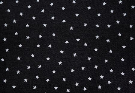 organic cotton: fabric with a pattern of stars.
