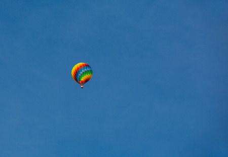 hobbies: balloons, air craft against the blue sky. sports, hobbies Stock Photo