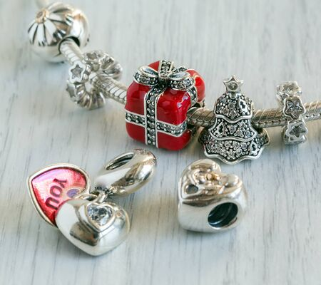 charms: Womens Bracelet, Charms close-up, jewelry
