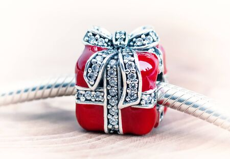 jewelry bracelet female on a white background, modern fashion, amulets, jewelry, macro