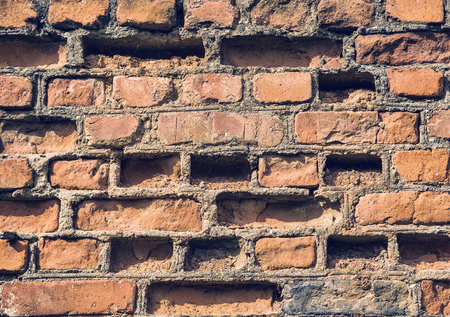 hardening: Background of brick wall texture, technology, pattern, design, retro style