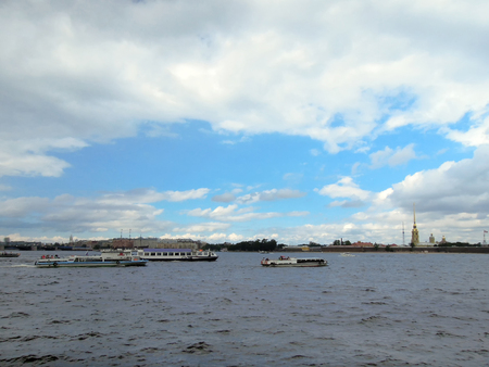 View of the Peter and Paul Fortress. Stock Photo