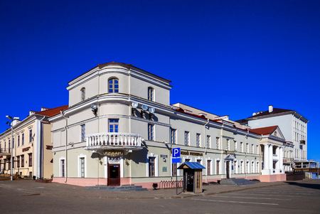 Minsk; Belarus; March 12042017, architecture; Freedom Square in the historical center of the city, old buildings, editorial Editorial