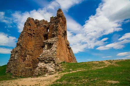 Ruins of a medieval castle in Novogrudok Belarus, architecture