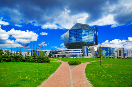 Belarus, Minsk - May 11, 2017: National Library of Belarus