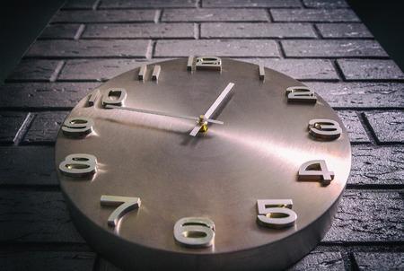 Creative concept of wall clock clocks
