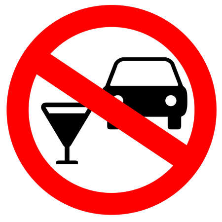 drink and drive: No drink and drive sign Stock Photo