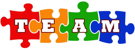 Teamwork sign with jigsaw puzzle Stock Photo - 6125241