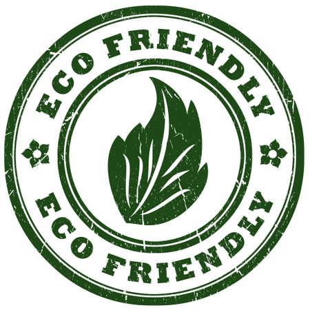 eco friendly: Eco friendly grunge stamp Stock Photo