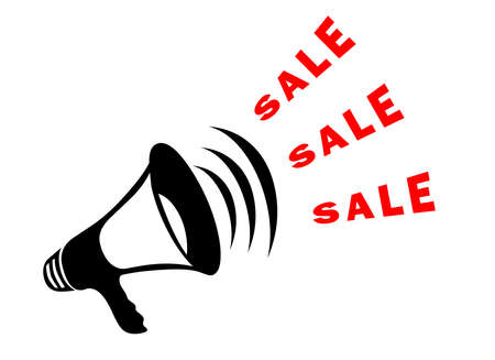 Sale announcement symbol with megaphone Stock Photo - 6137313