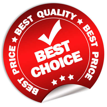 Beste keuze en prijs garantie sticker