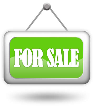 Para la firma de la venta sobre blanco  Foto de archivo