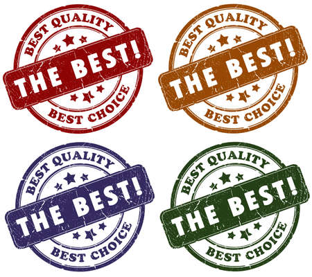 Best choice grunge stamps isolated over white Stock Photo - 6178677