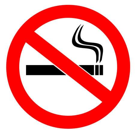 habit: No smoking sign