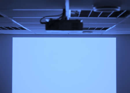 audiovisual: Projector and blank screen