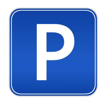 se�al parking: Ilustraci�n de signo de estacionamiento de autom�viles
