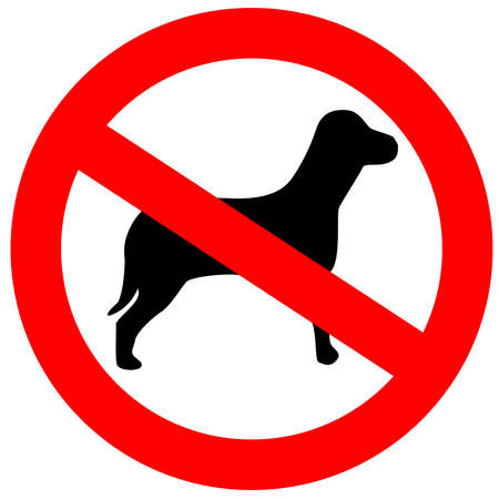 not allowed: No dogs allowed