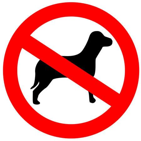 prohibido: No perros permitidos