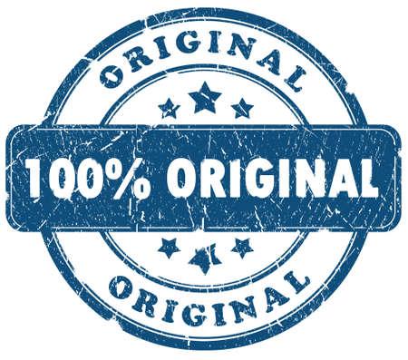 100 percent original grunge stamp isolated over white photo