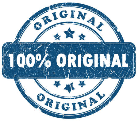 authenticity: 100 percent original grunge stamp isolated over white