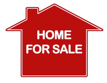 Hogar para la firma de bienes raíces de venta