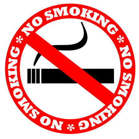 cigar smoke: No smoking sign