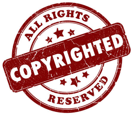 copyrighted: Copyrighted material sign