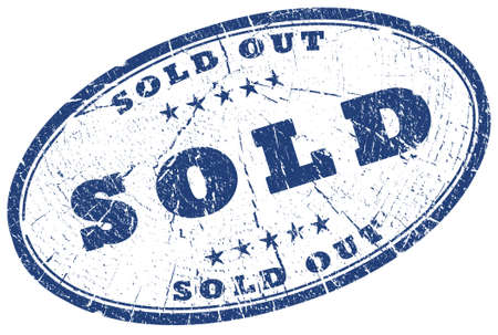 Sold out oval stamp photo