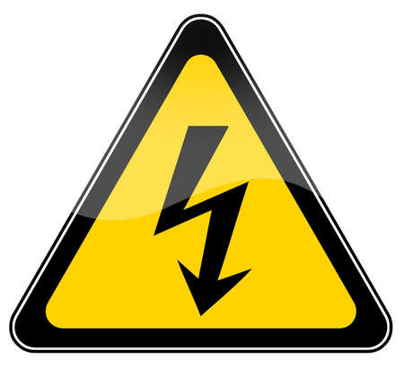 High voltage warning sign Stock Photo - 6190706