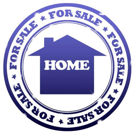 home for sale: Casa per la vendita di francobolli  Archivio Fotografico