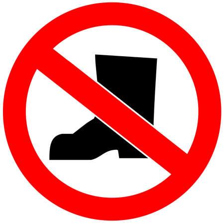 No shoes allowed photo