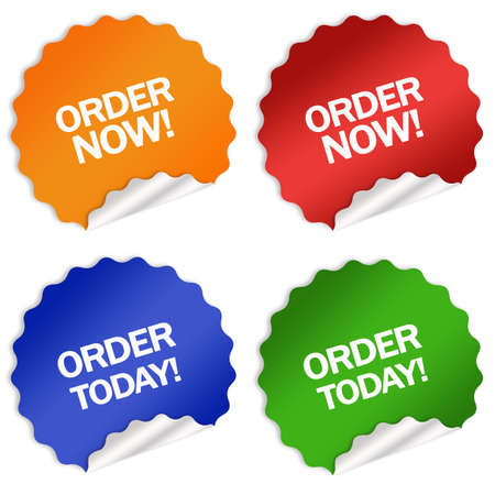 today: Order now today sticker Stock Photo