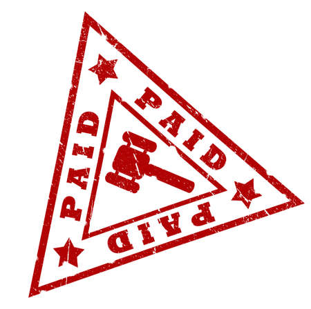 paid: Paid grunge triangular stamp