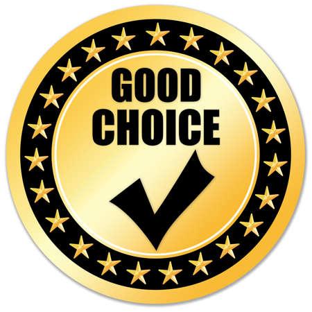 Good choice sticker Stock Photo - 6300220