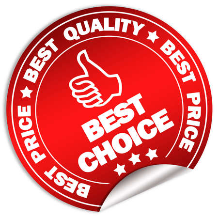 price reduction: Best choice label