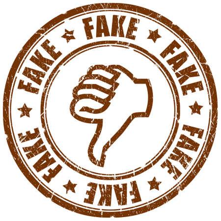 counterfeit: Fake stamp