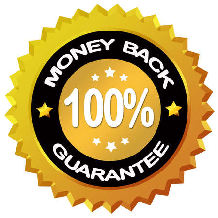 Money back guarantee label photo