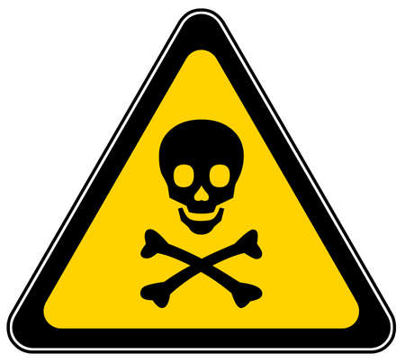 triangular warning sign: Mortal danger sign Stock Photo