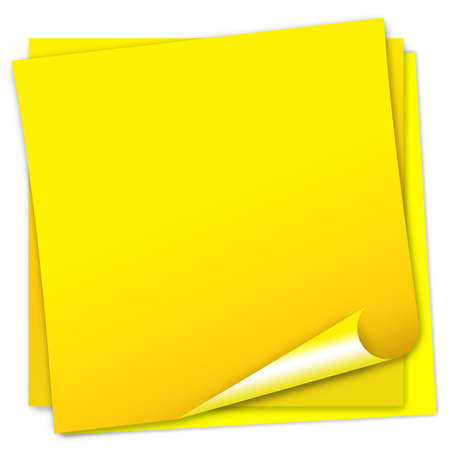 glued: Post-it note paper
