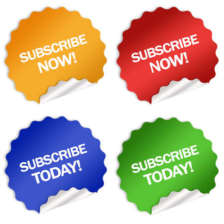 Subscription stickers Stock Photo - 6388857