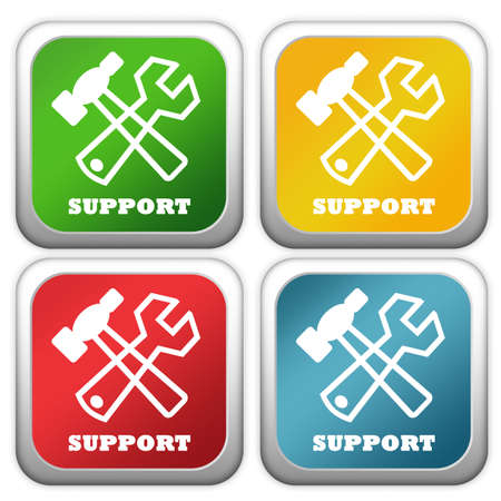 Support buttons photo