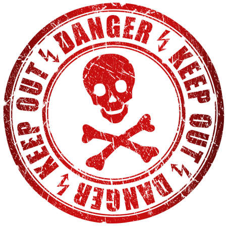 no entry: Danger stamp