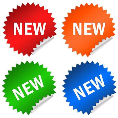 new arrival: Sticker new