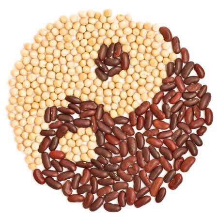 heathy diet: Peas and beans, asian cuisine Stock Photo